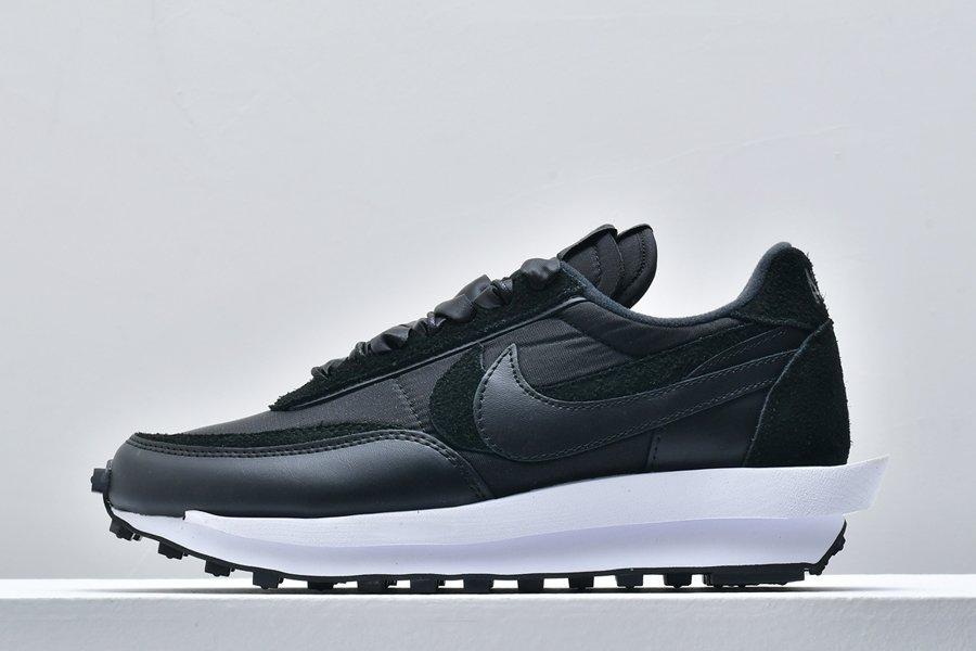 sacai x Nike LDWaffle Black Nylon BV0073-002 On Sale