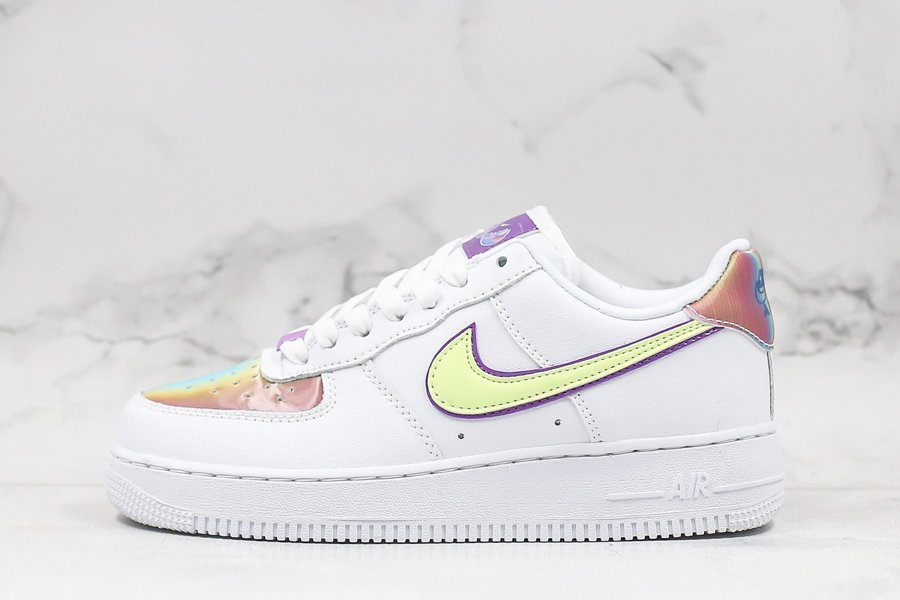 2020 Nike Air Force Low Easter White Barely Volt-Hyper Blue For Sale