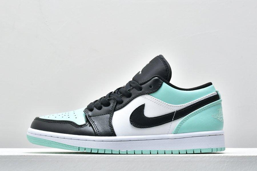 Air Jordan 1 Low Emerald Toe White Emerald Rise-Black For Sale