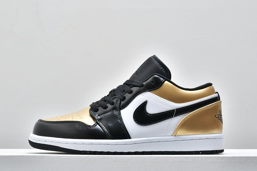 Air Jordan 1 Low Gold Toe Patent Leather CQ9447-700 For Sale