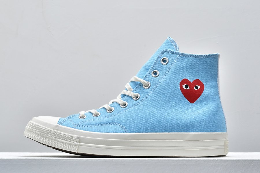 Buy Comme des Garcons Play x Converse Chuck Taylor All-Star 70 Blue