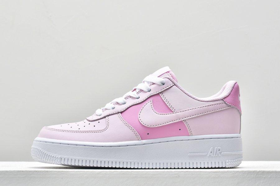 Buy Grade School Size Nike Air Force 1 Low Pink Foam White-Pink Rise