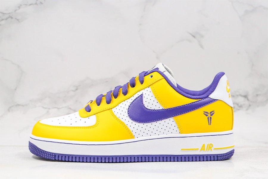 Buy Nike Air Force 1 Low Kobe Bryant White Varsity Purple-Varsity Maize