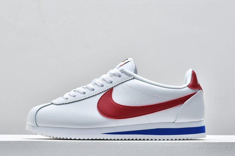 Buy Online Nike Classic Cortez Leather White Varsity Red-Varsity Royal