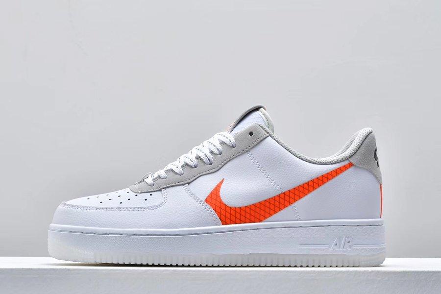 Buy White Nike Air Force 1 Low Orange Swoosh CD0888-100 Online