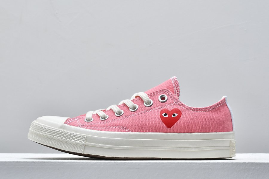 Comme des Garcons Play Converse Chuck Taylor All Star 70 Low Pink On Sale
