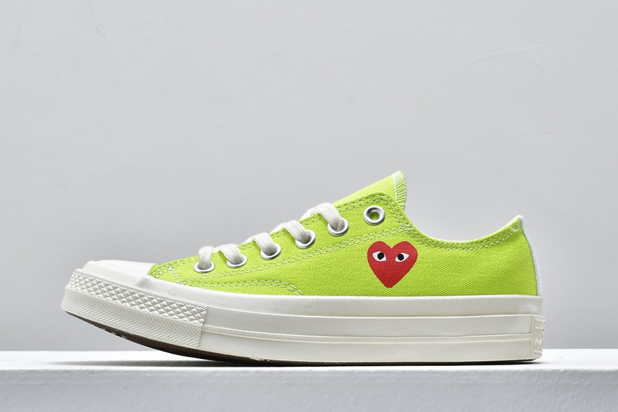 Converse Chuck Taylor All-Star 70s Ox Comme des Garcons Play Bright Green For Sale