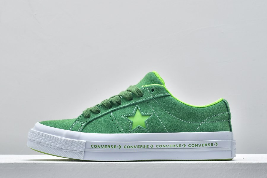 Converse One Star Pinstripe Ox Mint Green Jade Lime For Sale