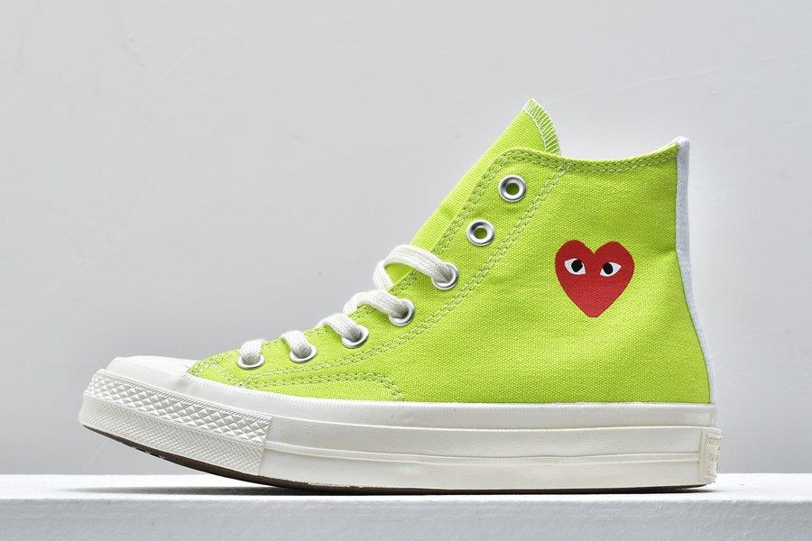 Converse x Comme des Garcons PLAY Chuck Taylor High Lime Green