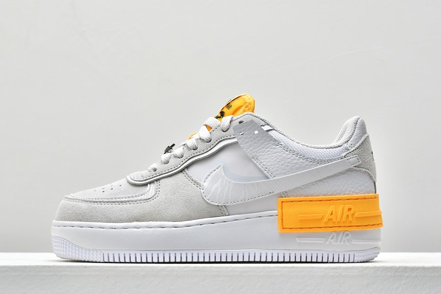 Ladies Nike Air Force 1 Low Shadow Vast Grey Laser Orange CU3446-001 To Buy