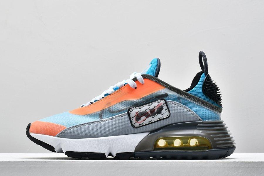 New Nike Air Max 2090 Grey Orange Blue Sneakers On Sale