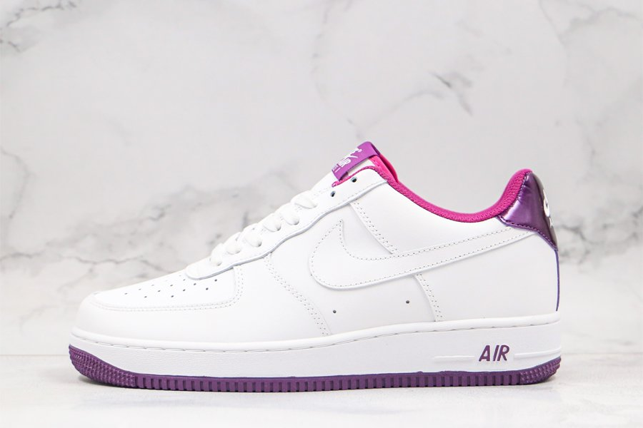 Nike Air Force Low White Voltage Purple CJ1380-100 For Sale