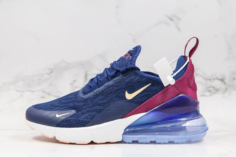 Nike Air Max 270 Blue Void-Crimson Tint AH6789-402 Femme En Promotion