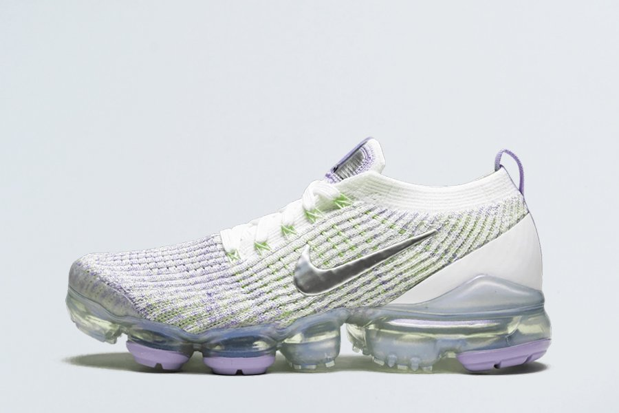 Nike Air VaporMax Flyknit 3 True White Barely Volt-Purple Agate For Sale