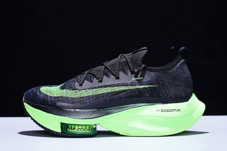 Nike Air Zoom Alphafly Next Black Green Running Shoes For Sale