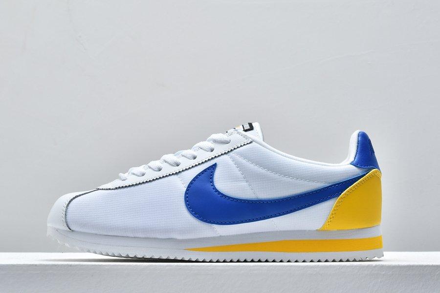 Nike Classic Cortez White Varsity Royal-Yellow For Sale
