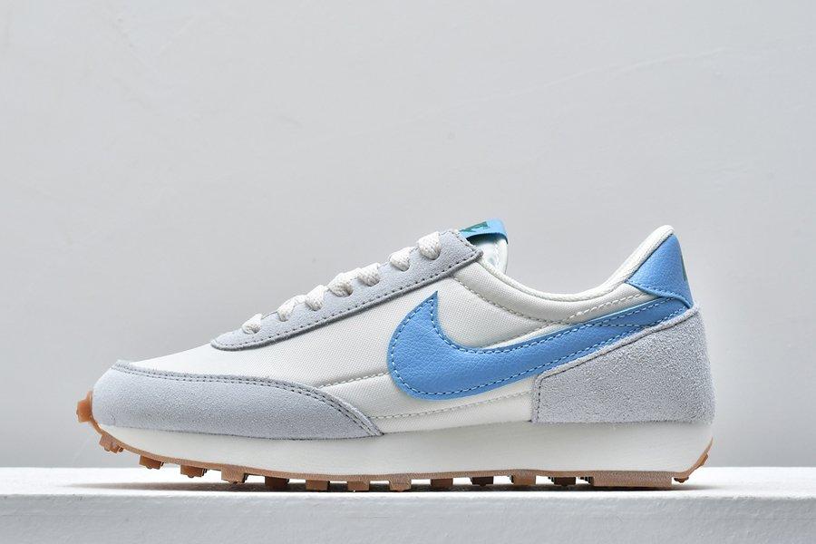 Nike Daybreak White Blue Retro-Style Runner Cheap Sale