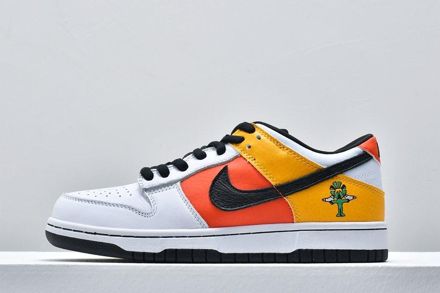 Nike SB Dunk Low Raygun Away Orange Flash White-Yellow For Sale