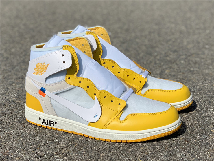 Off-White x Air Jordan 1 Canary Yellow For Sale
