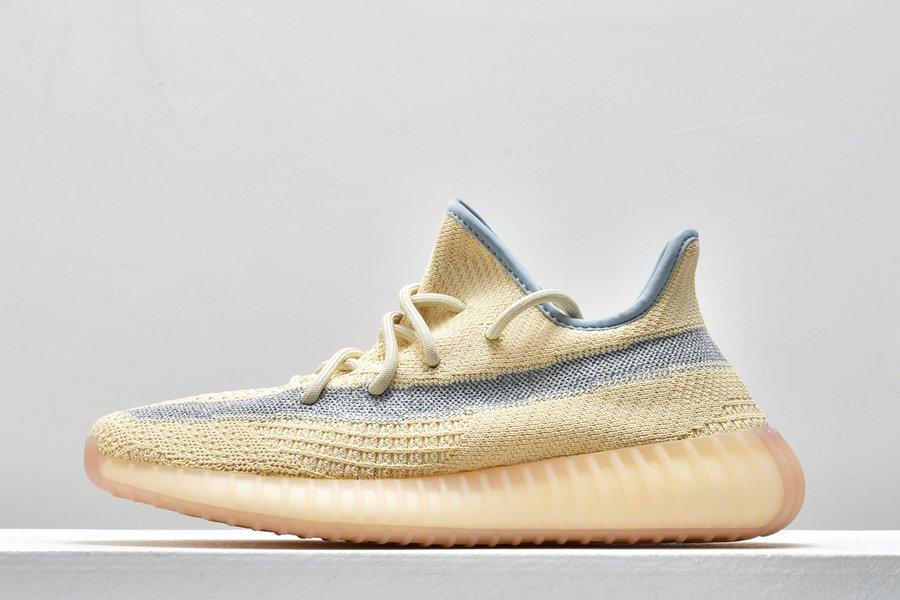 adidas Yeezy Boost 350 V2 Linen Bright Tan-ish Blueish-Grey To Buy