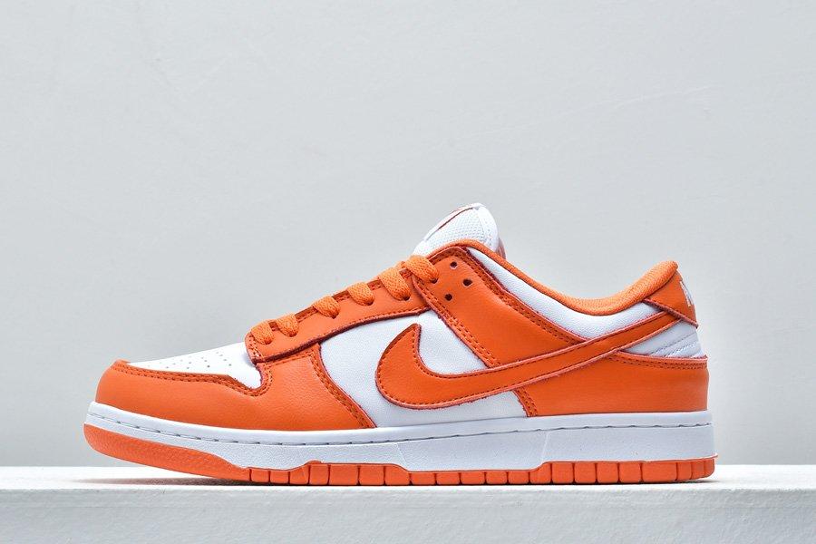 2020 Nike Dunk Low Syracuse White Orange Blaze To Buy