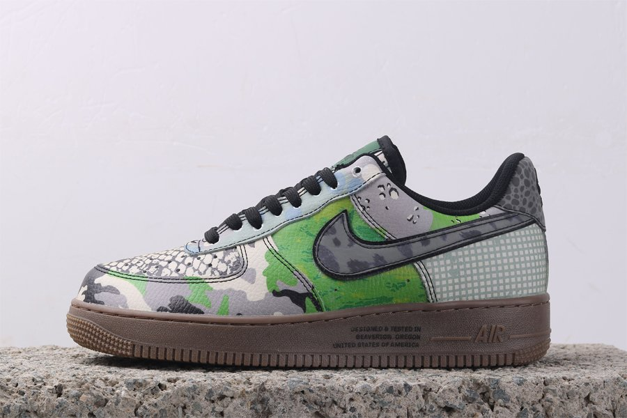 Buy Nike Air Force 1 Low City Of Dreams Green With Snakeskin Print