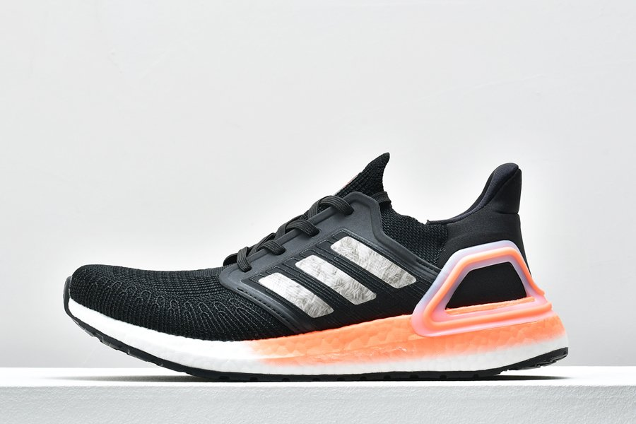 Buy adidas UltraBoost 20 Core Black Signal Coral Running Shoes Online