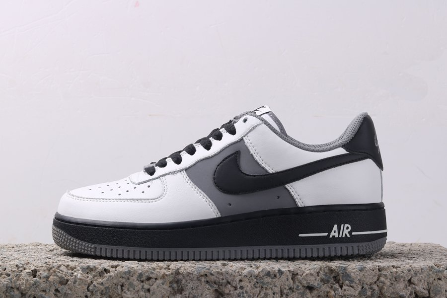 Cheap Sale Low-top Nike Air Force 1 White Black Grey Online