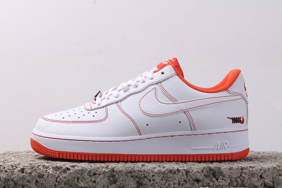 Nike Air Force 1 Low Rucker Park White Orange CT2585-100 For Sale