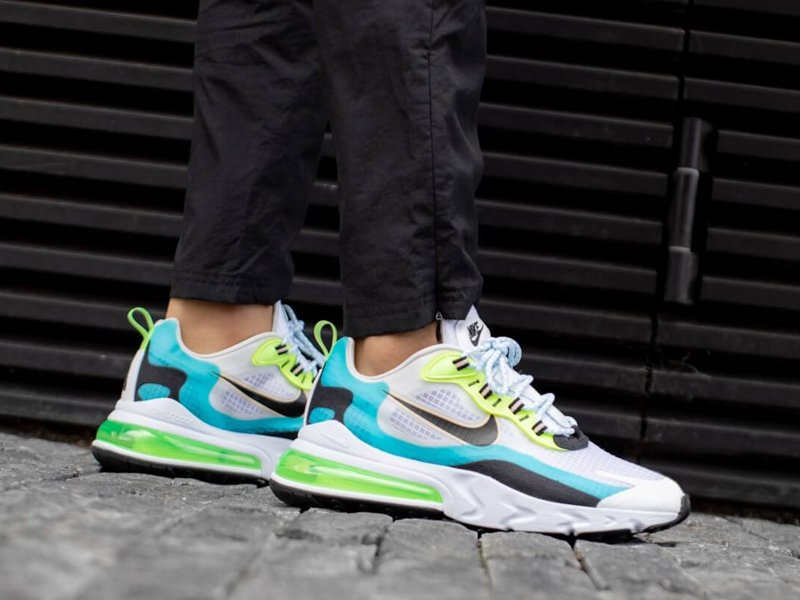 Nike Air Max 270 React SE Oracle Aqua On Feet