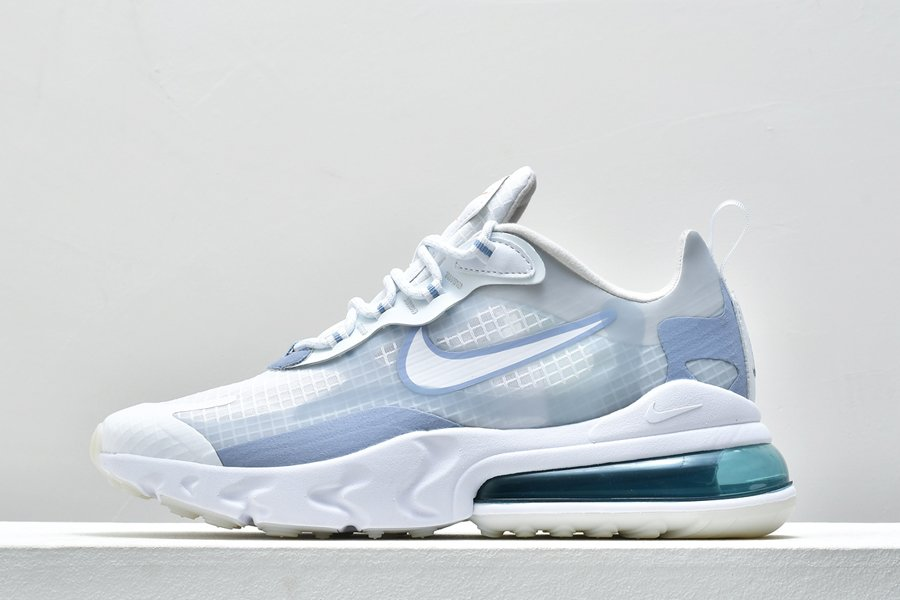 Nike Air Max 270 React SE White Pure Platinum-Indigo Fog In Mens Size