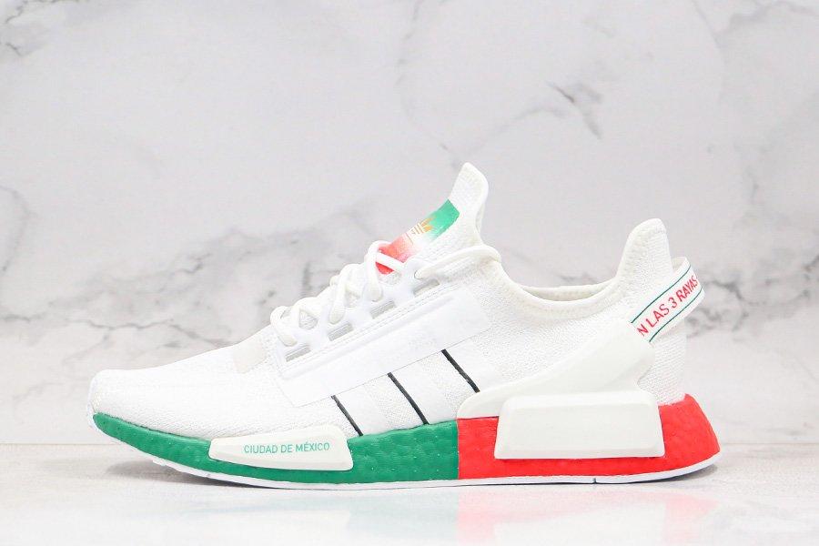 adidas NMD_R1 V2 White Bright Crimson-Green On Sale