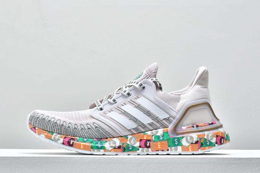 adidas Ultra Boost 2020 Global Currency Orchid Tint Cloud White-Glory Green FX8890 For Sale