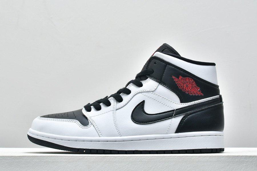 Air Jordan 1 Mid Reverse Black Toe Sneakers BQ6472-101