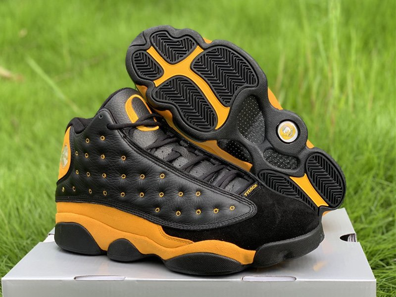 Air Jordan 13 PE Oregon Track and Field In Black Yellow For Sale