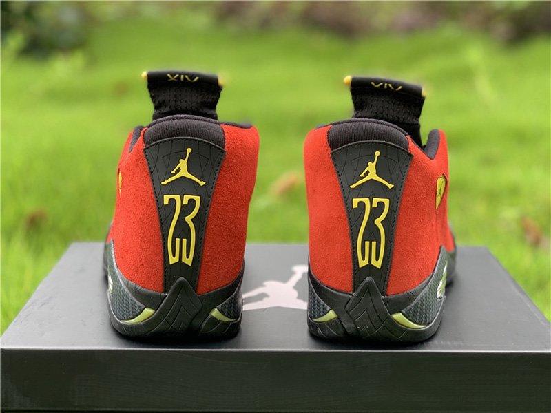 Air Jordan 14 Retro Red Ferrari 654459-670 Heel