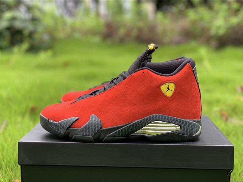 Air Jordan 14 Retro Red Ferrari 654459-670 Left
