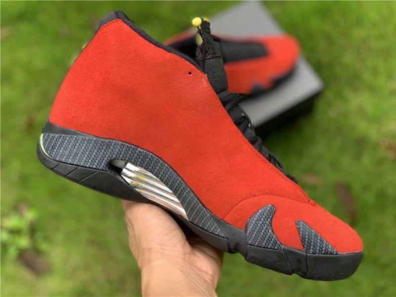 Air Jordan 14 Retro Red Ferrari 654459-670 Medial