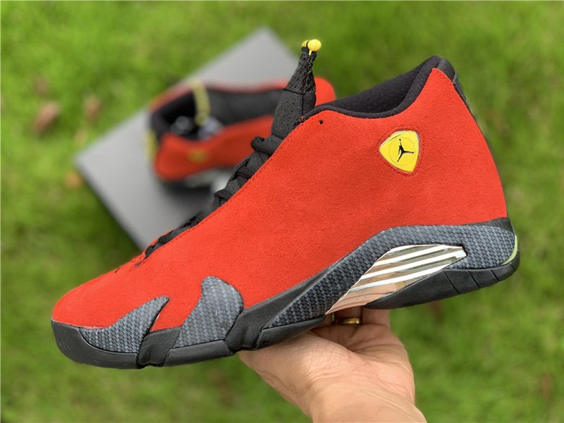 Air Jordan 14 Retro Red Ferrari 654459-670 On-hand
