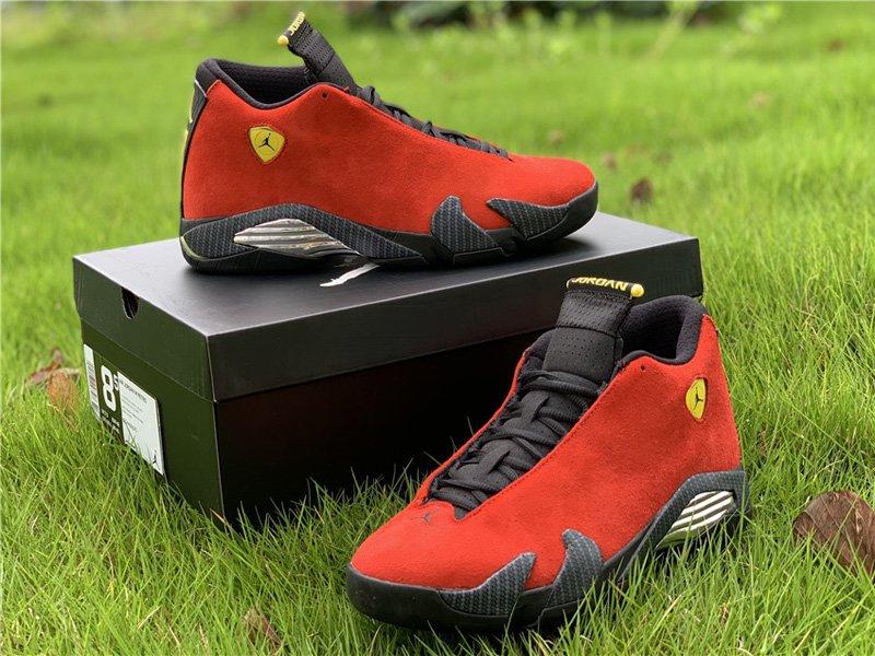 Air Jordan 14 Retro Red Ferrari 654459-670 Pair
