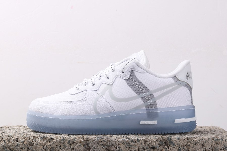 Nike Air Force 1 React QS White Ice CQ8879-100 For Sale