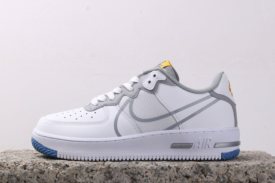 Nike Air Force 1 React White Smoke Grey CT1020-100 For Sale