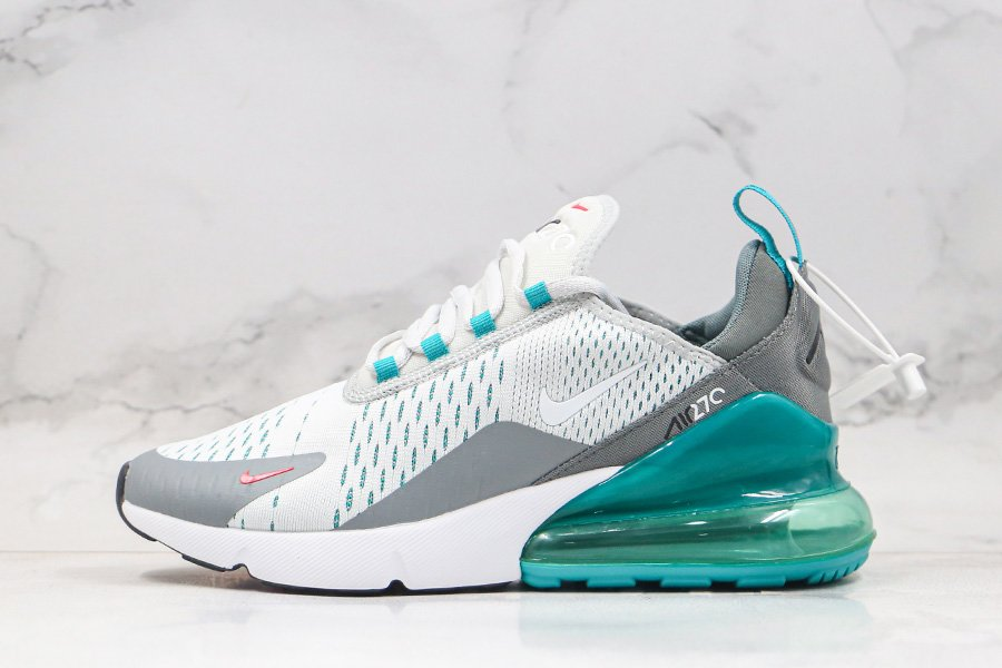 Nike Air Max 270 White Teal Turquoise Grey To Buy