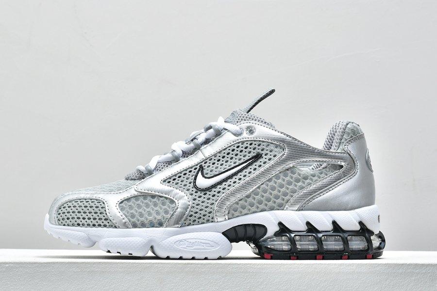 Nike Air Zoom Spiridon Cage 2 Metallic Silver CD3613-001 For Sale