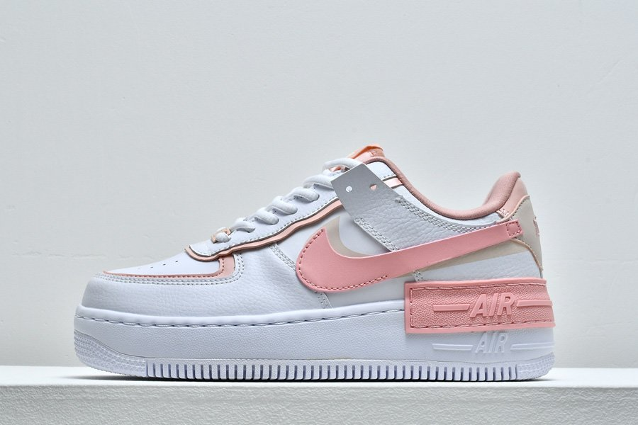 Nike WMNS Air Force 1 Shadow Summit White Pink Quartz-Washed Coral