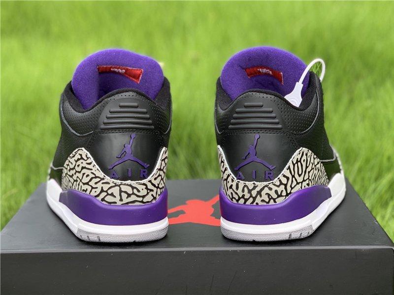 2020 Air Jordan 3 Court Purple CT8532-050 Heel