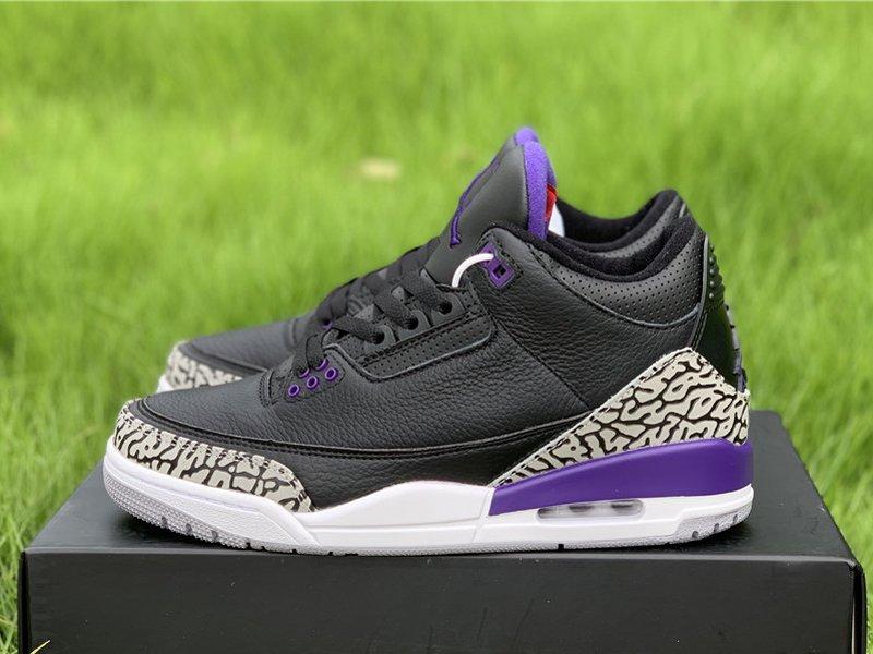 2020 Air Jordan 3 Court Purple CT8532-050 Left