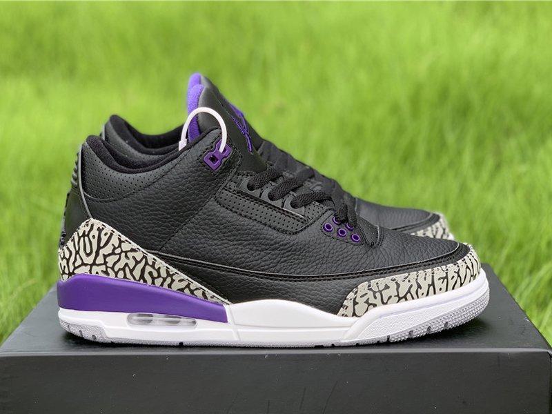 2020 Air Jordan 3 Court Purple CT8532-050 Right