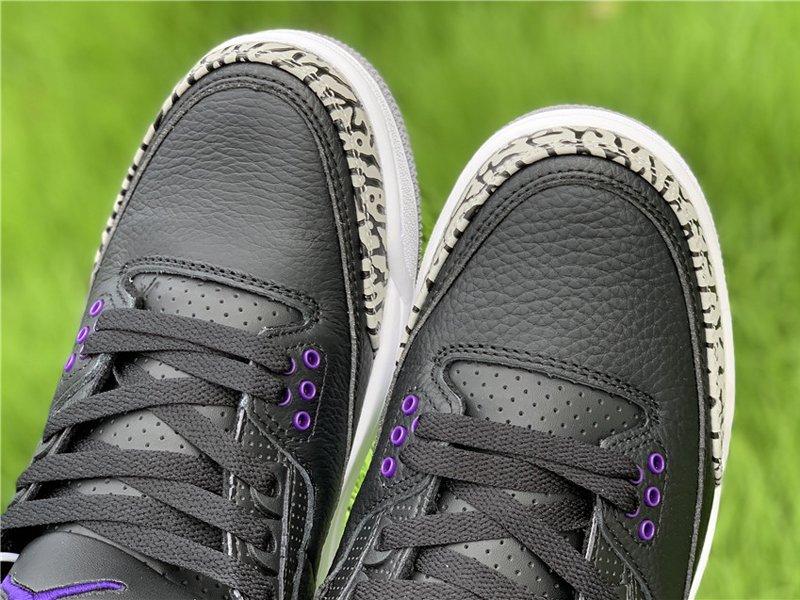 2020 Air Jordan 3 Court Purple CT8532-050 Toe