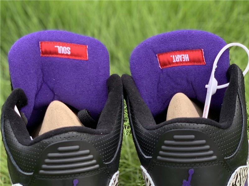 2020 Air Jordan 3 Court Purple CT8532-050 Tongue
